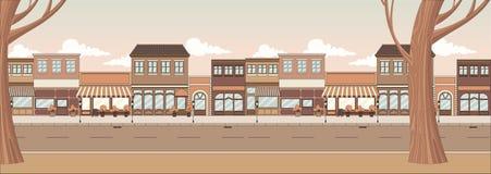 Street of a city vector illustration