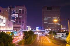 Street and city view at night, Tokyo, Japan Stock Photo
