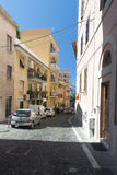 Street in Civitavecchia, Italy Stock Images