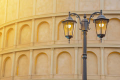 Street Classic Lamp With Ancient Building, Vintage Concept Backg Stock Image
