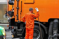 Street cleaner Stock Photography