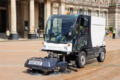 Street Cleaner, Birmingham. Royalty Free Stock Photos
