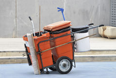 Street cleaner cart Royalty Free Stock Photos