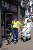 Street cleaner, Chester. Stock Photo