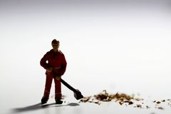 Street cleaner A Royalty Free Stock Image