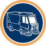 Street Cleaner Truck Circle Retro royalty free illustration