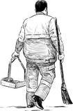Street cleaner Stock Image