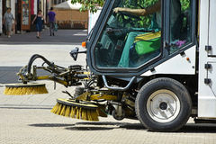 Street cleaner vehicle Stock Image
