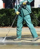 Street cleaner at work Stock Photos