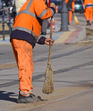 Street cleaner at work Stock Photography