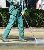 Street cleaner is working Royalty Free Stock Image