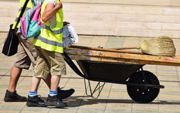 Street cleaners Royalty Free Stock Image