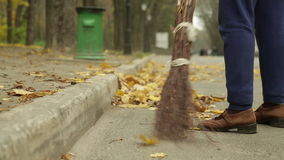 Street cleaning stock video