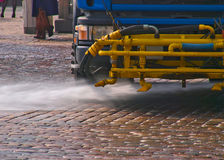 Street cleaning machine Stock Photo