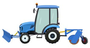 Street cleaning tractor stock images