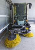 Street cleaning vehicle. Industries tools Royalty Free Stock Image