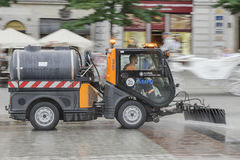 Street cleaning vehicle Royalty Free Stock Photos