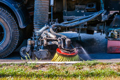 Street cleansing machine Royalty Free Stock Photos