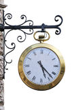 Street clock royalty free stock image