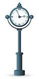 Street clock. Isolated on white background. Vector illustration Stock Photo