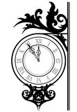 Street clock. Vector illustration of street clock stock illustration