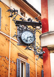 Street clock  in Bologna Stock Photography