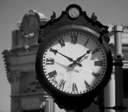 Street Clock in Boston's Back Bay Area (Boston, Massachusetts, USA / April 21, 2013). Old-fashioned street clock in Boston Stock Photos