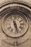 Street clock in croatian town Dubrovnik. Old medieval street clock in croatian town Dubrovnik Royalty Free Stock Image