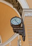 Street clock (1905) on General Staff  in Saint Petersburg, Russi Stock Image