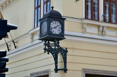 Street clock in Miskolc Royalty Free Stock Photos