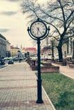 Street clock, retro style, vintage Stock Photos
