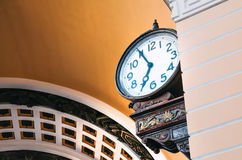 Street clock in St. Petersburg, the arch Palace Square. royalty free stock image