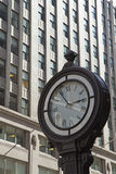 Street clock on the street in Manhattan. Royalty Free Stock Photography