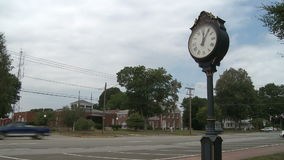 Street Clock (3 of 4). A view or scene from around town stock video