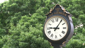 Street Clock (2 of 4). A view or scene from around town stock video footage
