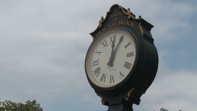 Street Clock (4 of 4). A view or scene from around town stock video footage