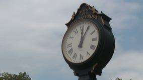 Street Clock (4 of 4) stock video footage