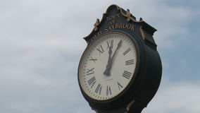Street Clock (1 of 4). A view or scene from around town stock footage