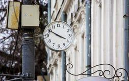 Street clocks Royalty Free Stock Image