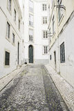 Street closed in Lisbon Royalty Free Stock Images