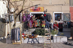 Street clothes shop, Slovenia Stock Image