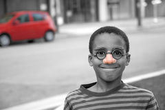 On the street clown Stock Images