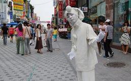 Street  with clown in Dajeon Korea Royalty Free Stock Photo
