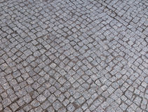 Street  cobbled by granite stones as background Stock Image