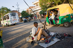 Street cobbler in India Royalty Free Stock Image