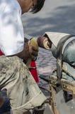 Street cobbler Vietnam Royalty Free Stock Image