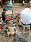 Street cobbler Royalty Free Stock Photo