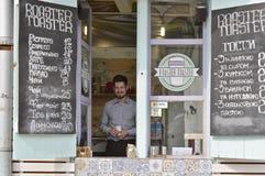 Free Street Coffee Vendor. Kyiv, Ukraine Stock Image - 110131021