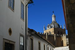 Street of Coimbra. Portugal. Cathedral, church, cityscape, travelphotography stock photography