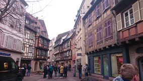Street of colmar stock image